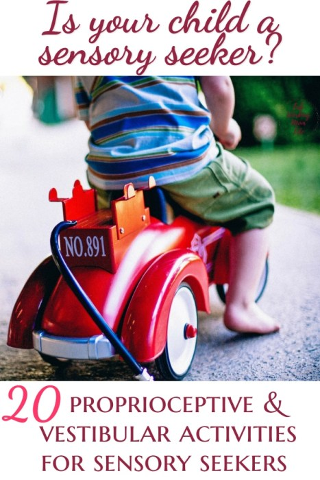 Is your child a sensory seeker? 20 Ideas for Sensory Activities for Proprioceptive and Vestibular input | Try this mom advice when your hyper child just does not listen | Fab Working Mom Life #Parenting #children #toddler #preschooler #parentingtip #hyper #sensory