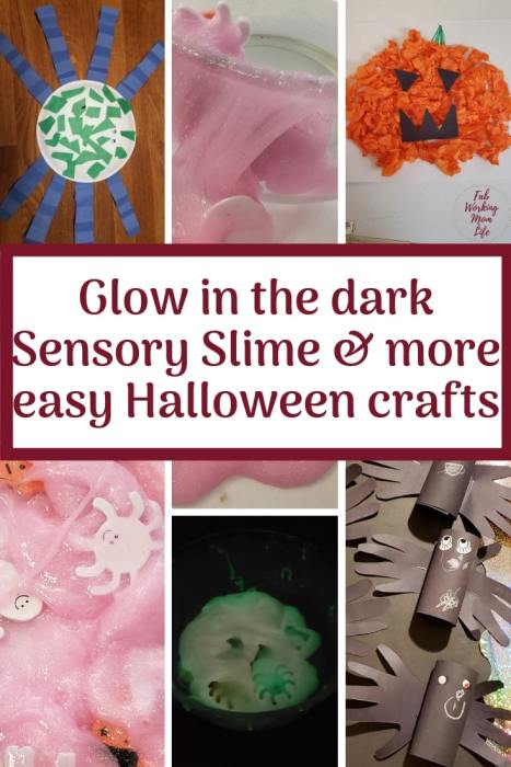 Glow in the dark Sensory Slime & more easy Halloween crafts | Fab Working Mom Life