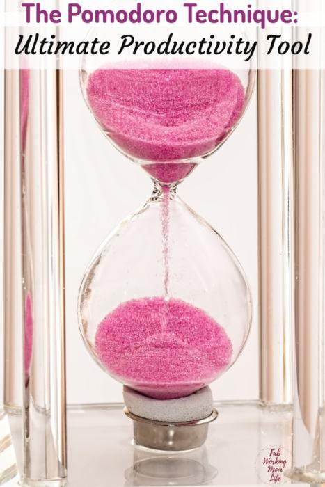 The Pomodoro Technique - The Ultimate Productivity Tool | Fab Working Mom Life #organize #productivity #workingmom #productivitytips #timemanagemen