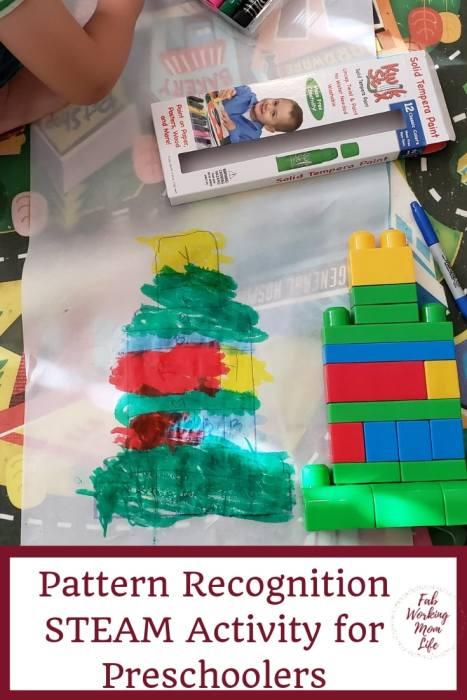 Pattern Recognition STEAM Activity for Preschoolers   Fab Working Mom Life #steam #stem #preschool #kidactivity