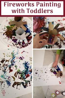 Fireworks Painting with toddlers