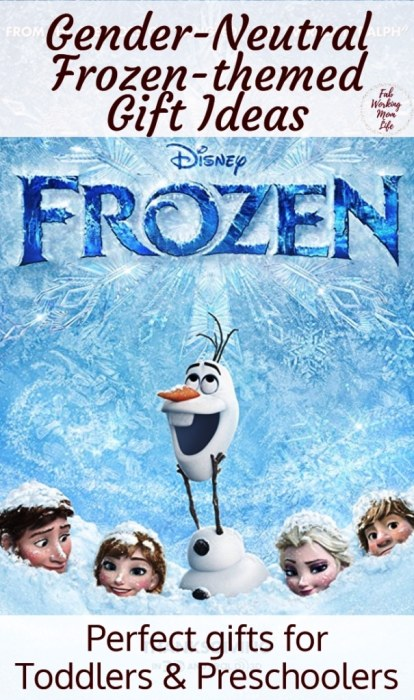Looking for Disney Frozen toys for boys and girls? Check out this gender neutral Frozen gift guide! Fab Working Mom Life #gifts #giftguide #giftideas #giftsfortoddlers #giftsforboys #giftsforgirls #christmasgifts