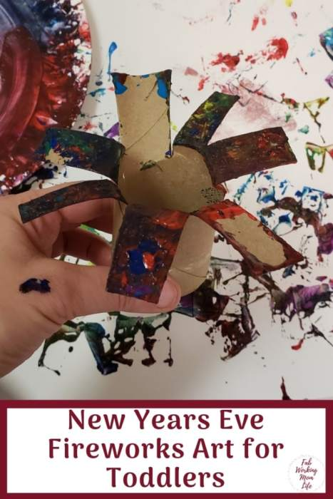 New Years Eve Fireworks Art for Toddlers and Preschoolers | Fab Working Mom Life