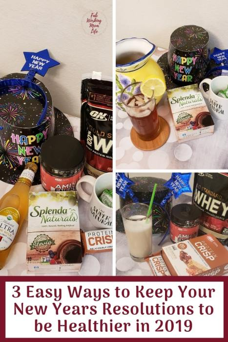 #AD  3 Easy Ways to Keep Your New Years Resolutions to be Healthier in 2019   Fab Working Mom Life   WalmartResolutions.com #ResolutionsatWalmart #SplendaNaturals #IC #NewYearsResolutions #Goals #Resolutions