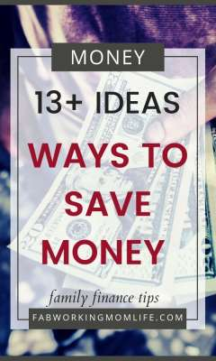 13 ways to save money - family finance tips