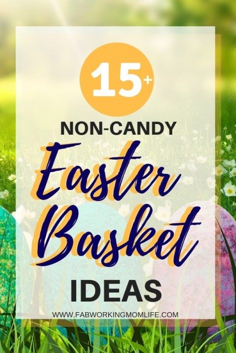 15 plus non candy Easter basket ideas