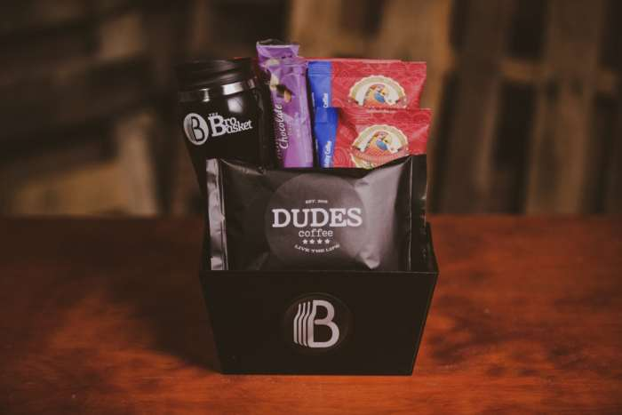 coffee lovers bro basket