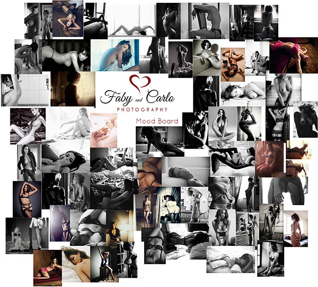Boudoir Mood Board Ms A by Fabiana and Carlo Nicora fabyandcarlo.com