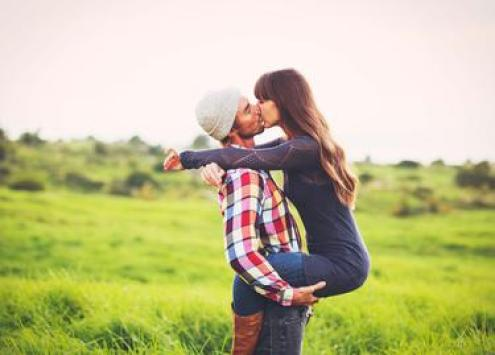 Happy Romantic Young Couple in Love Outdoors; Shutterstock ID 233925091