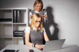 Female boss about to kill employee
