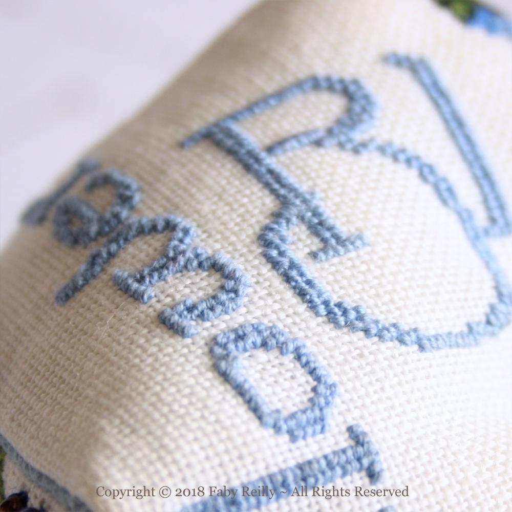 Cornflower Biscornu - Faby Reilly Designs