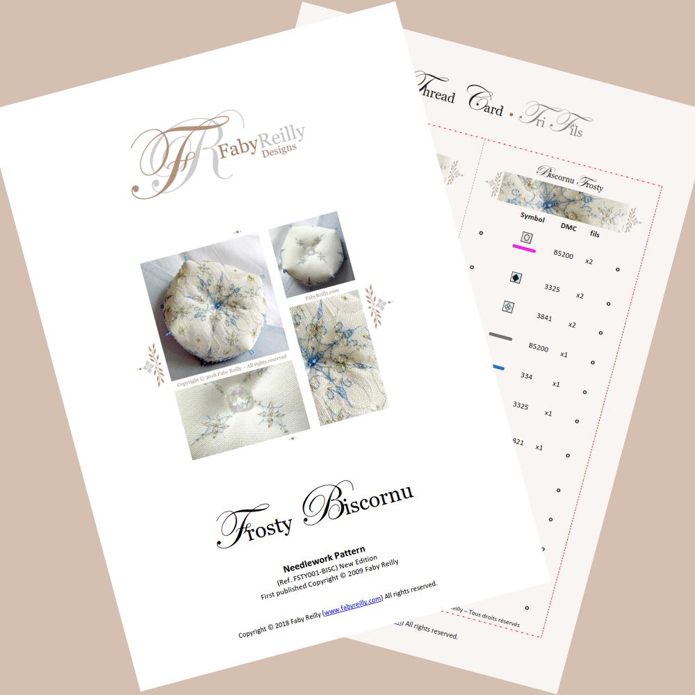 Frosty Biscornu - Faby Reilly Designs