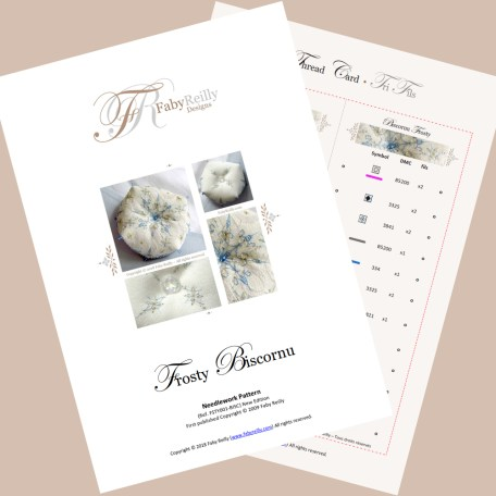 Frosty Biscornu – Faby Reilly Designs