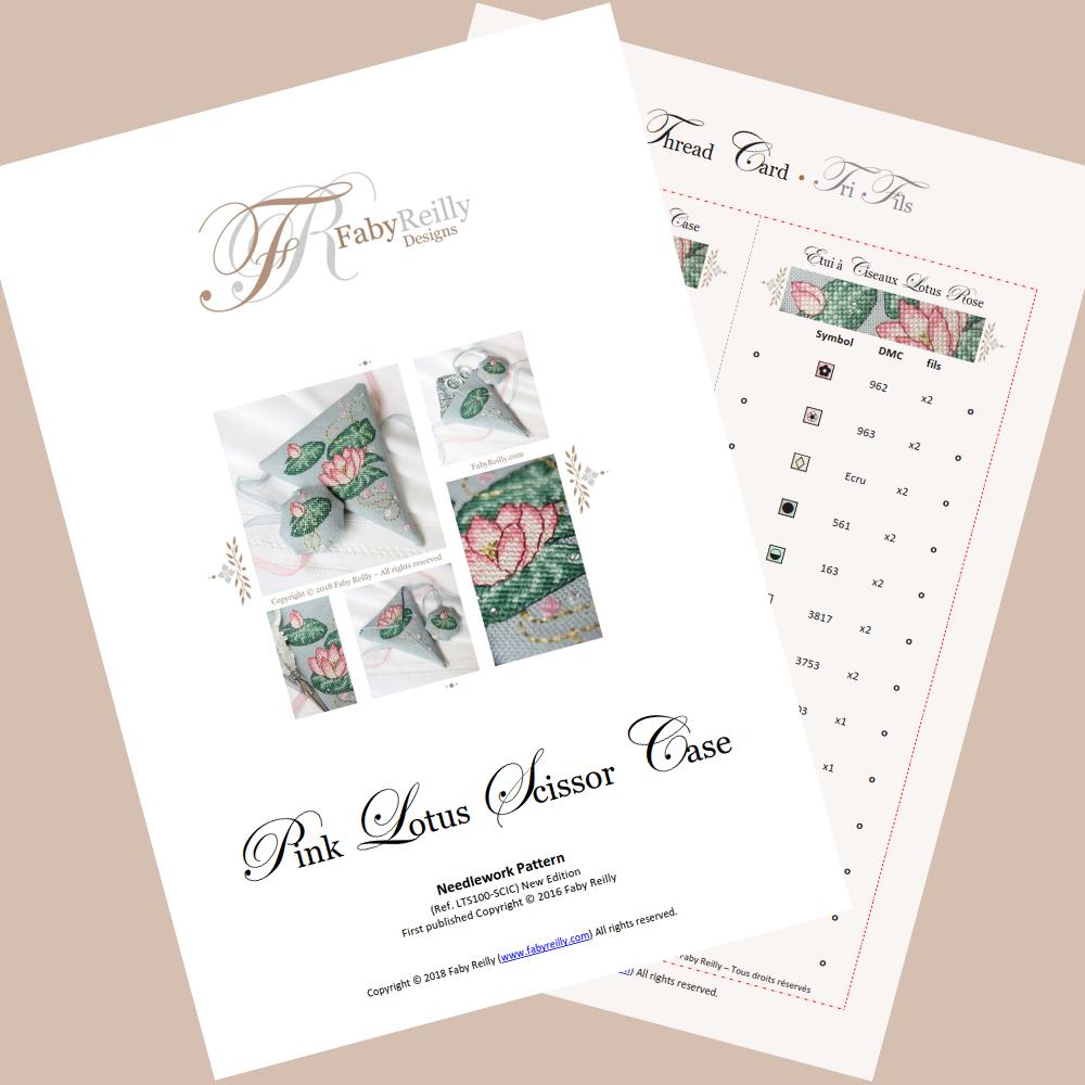 Pink Lotus Scissor Case - Faby Reilly Designs