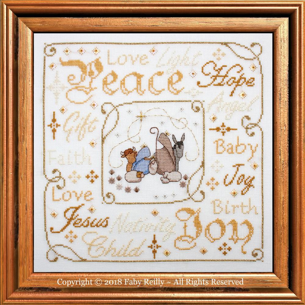 Nativity Frame - Faby Reilly Designs