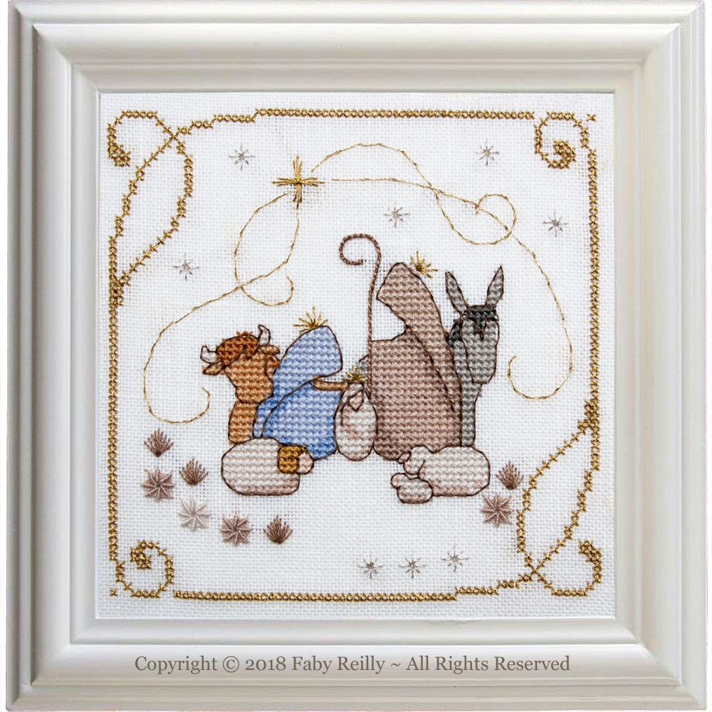 Nativity Frame - Faby Reilly Designs
