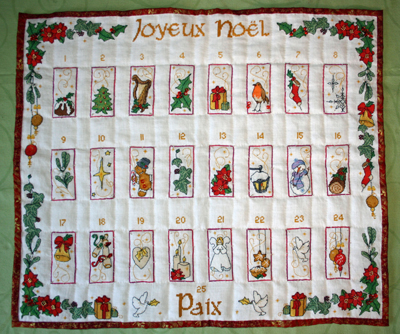 Advent Calendar - stitched by Myriam W