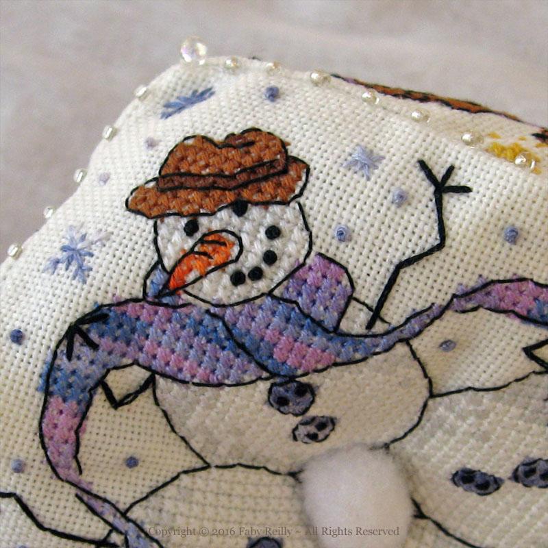 Snowmen Biscornu