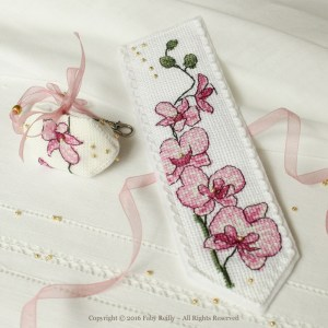 Plum Orchid Bookmark - Faby Reilly Desgins
