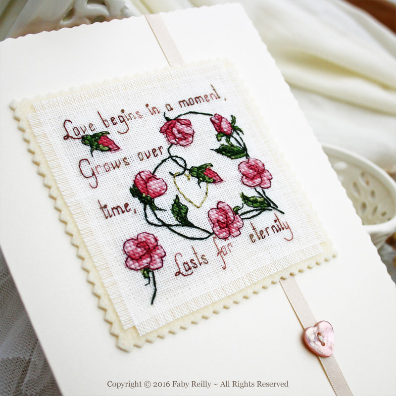 Sweet Roses Card - Faby Reilly Designs