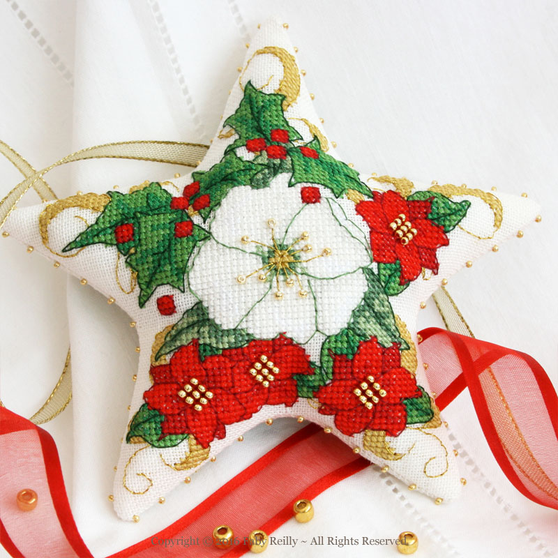 Christmas Rose Star - Faby Reilly Designs