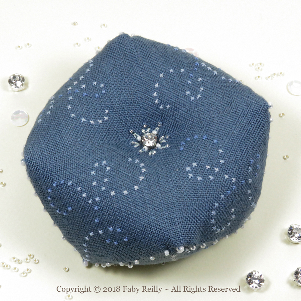 Let it Snow Biscornu – Faby Reilly Designs