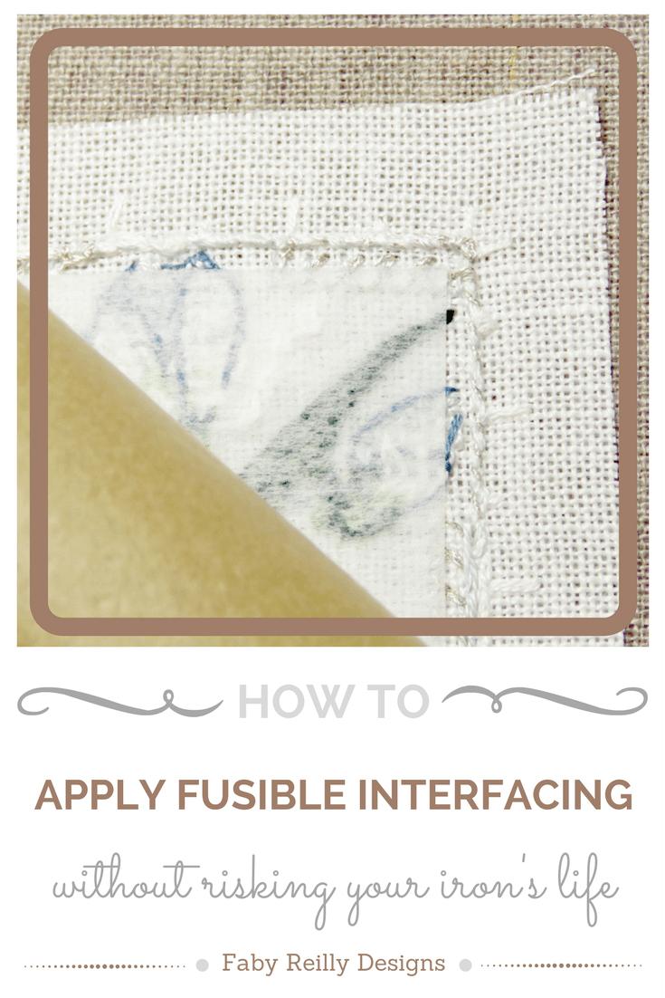Fusible Interfacing Tutorial