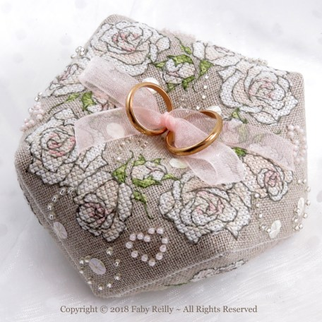 Once Upon a Rose Biscornu - Faby Reilly Designs