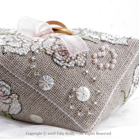 Once Upon a Rose Biscornu – Faby Reilly Designs