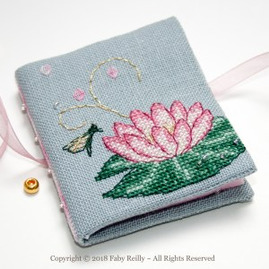 Pink Lotus Needlebook - Faby Reilly Designs
