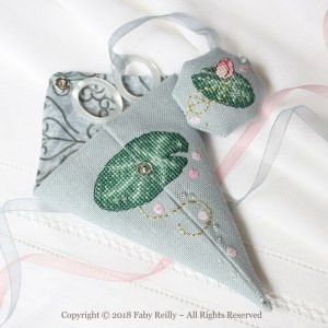 Pink Lotus Scissor Case - Faby Reilly Designs