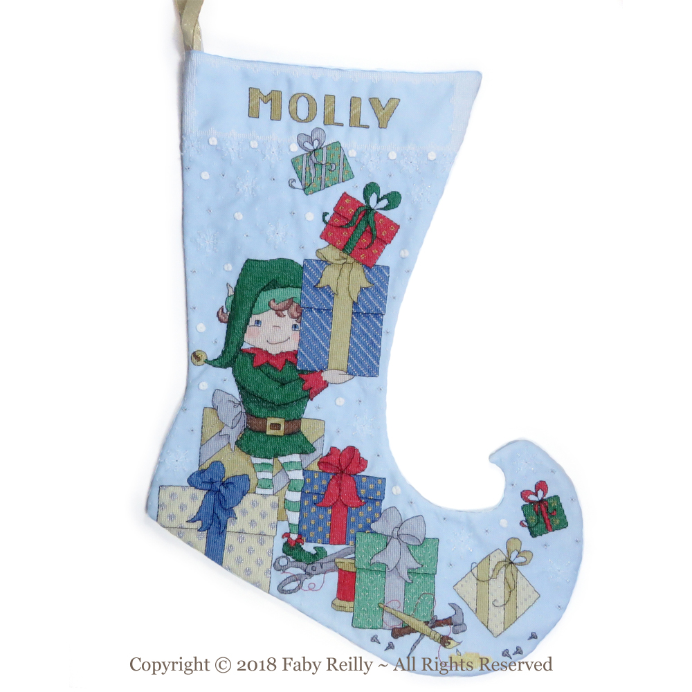 Elf Stocking - Faby Reilly Designs