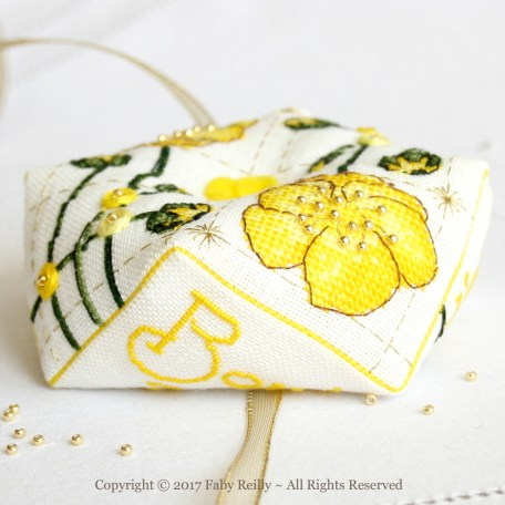 Buttercup Biscornu – Faby Reilly Designs