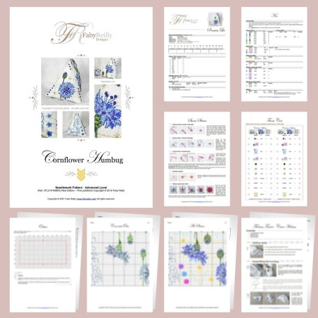 Cornflower Humbug Sample Pages – Faby Reilly Designs