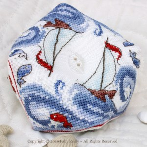 High Seas Biscornu - Faby Reilly Designs