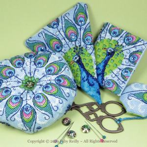 Peacock Stitching Set - Faby Reilly Designs