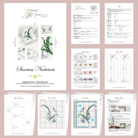 Snowdrop Needlebook Sample Pages – Faby Reilly Designs