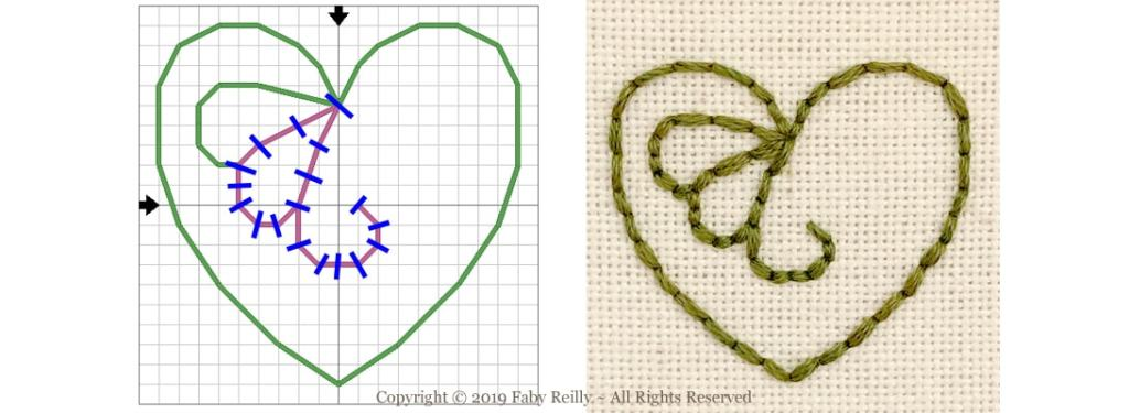 6 stranded backstitch Tutorial - Faby Reilly Designs