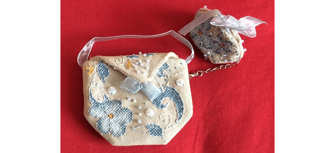 Flora Pouch - stitched by Bernadette