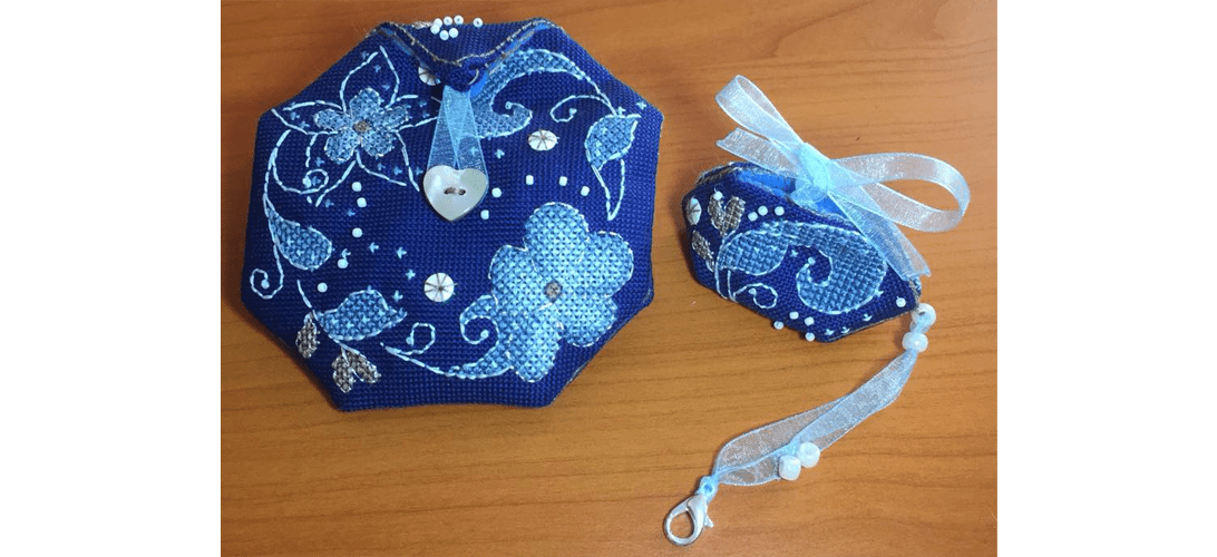 Flora Pouch - stitched by Sharon