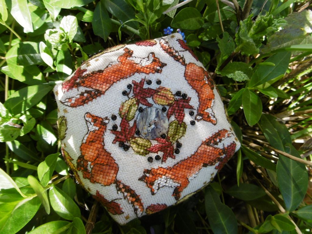 Ring a ring o Foxes - stitched by Nicole L