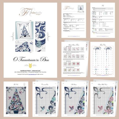 O Tannenbaum in Blue – Sample Pages – Faby Reilly Designs