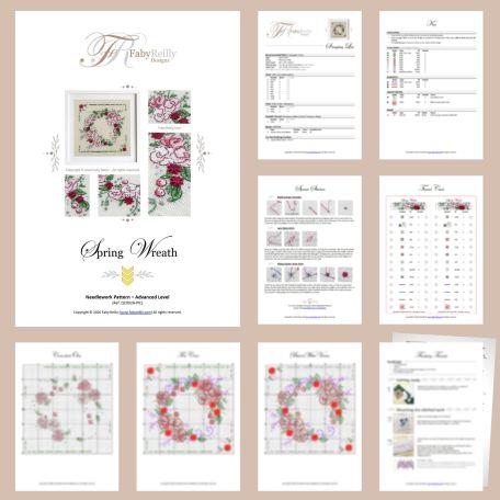 Spring Wreath Sample Pages – Faby Reilly Designs