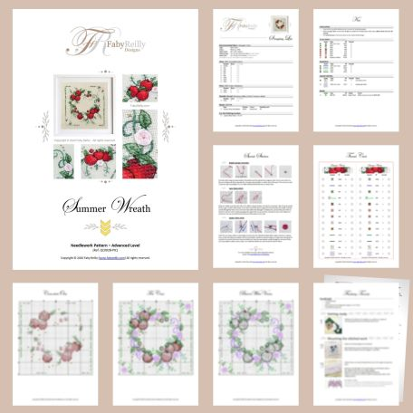 Summer Wreath Sample Pages – Faby Reilly Designs