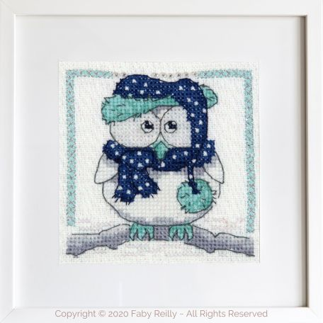 Navy and Mint Mini Frame 03A – Faby Reilly Designs