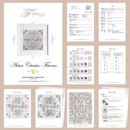 Anthea Calendar – February – Sample Pages – Faby Reilly Designs