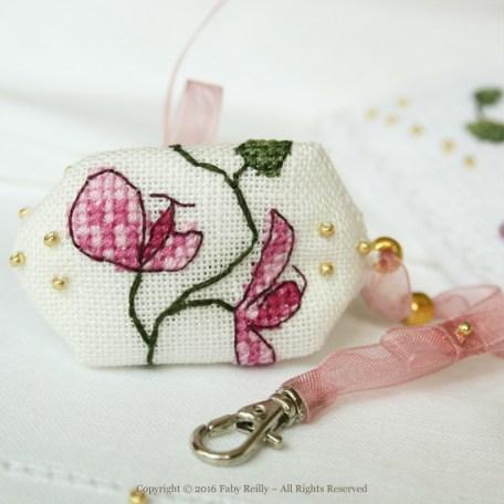 Plum Orchid Bookmark