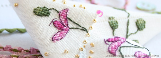 Etui à ciseaux Orchidée Prune