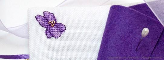 Livret à aiguilles Violette