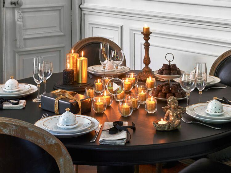 elegant table de nol nos ides de dcoration en vidos et photos femme actuelle le mag with idees deco table de noel